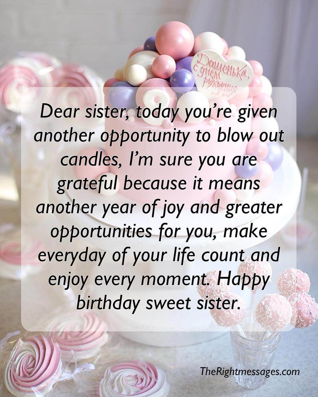 Happy birthday messages wishes quotes for sister the right messages happy birthday wishes for sister m4hsunfo