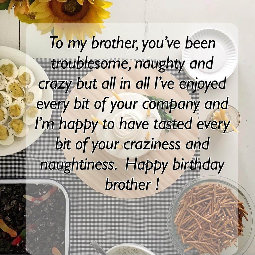 Short And Long Happy Birthday Quotes Wishes For Brother
