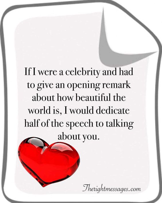 If I were a celebrity love quote