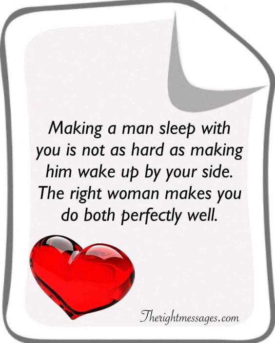 Making a man sleep with you