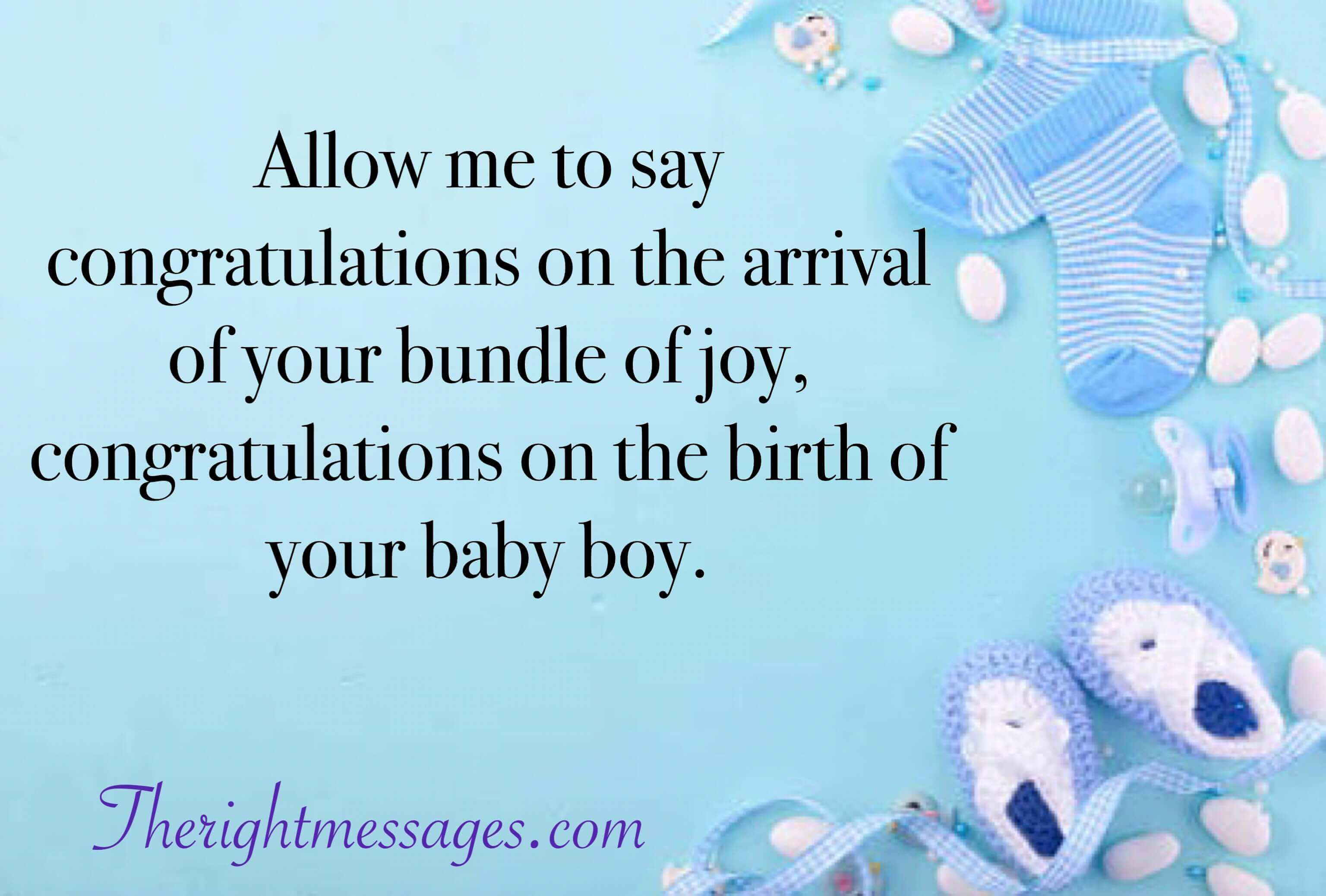 45 Congratulation Wishes & Messages for New Born Baby Boy | The