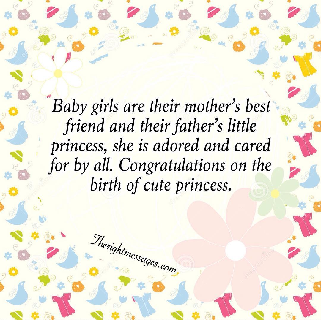 New Born Baby Girl Wishes Quotes Congratulation Messages The