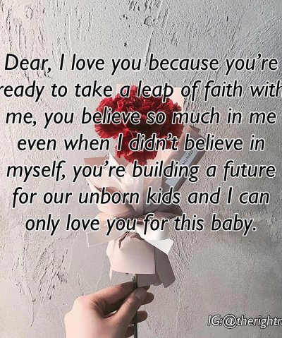 Dear, I love you because you