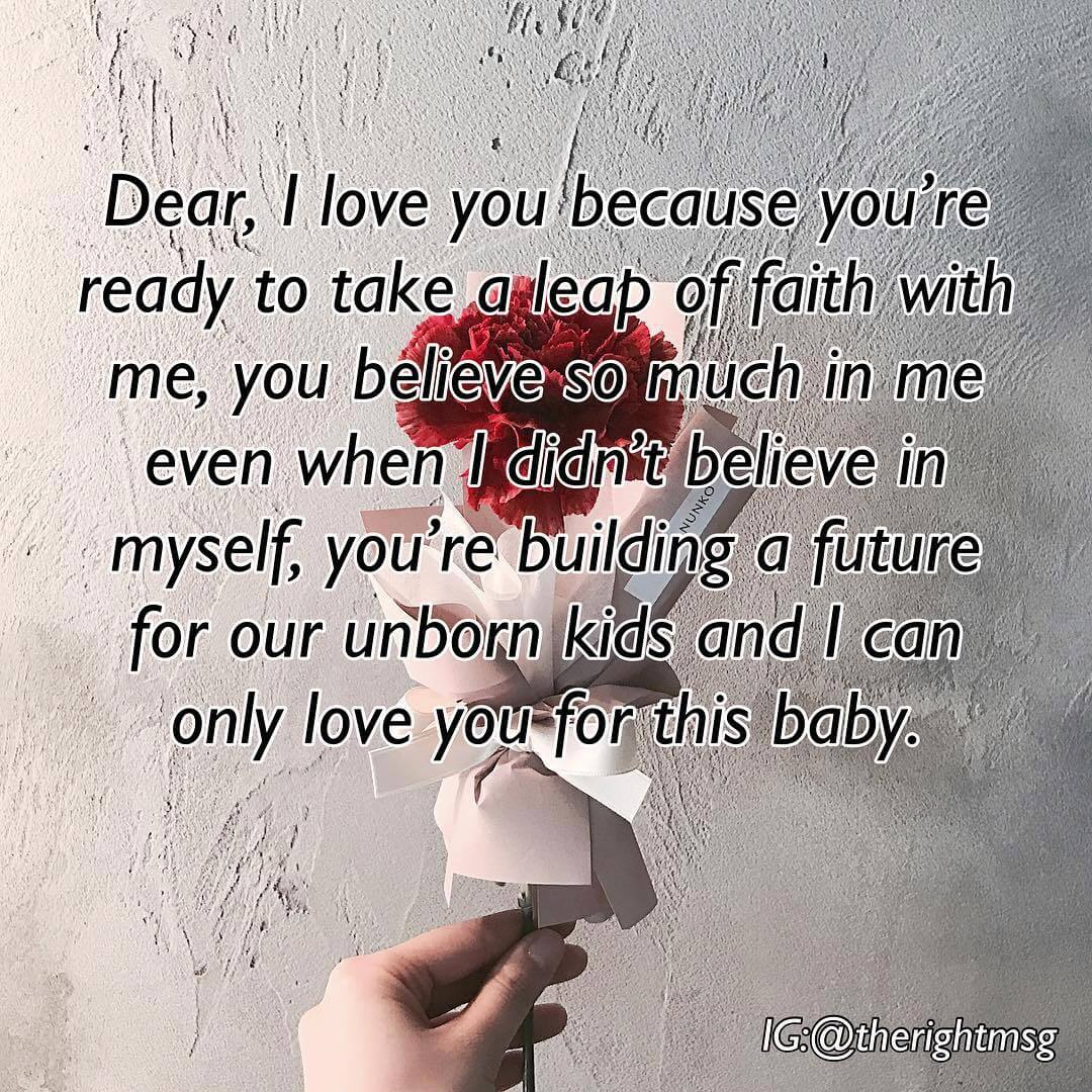 Dear i love you because you