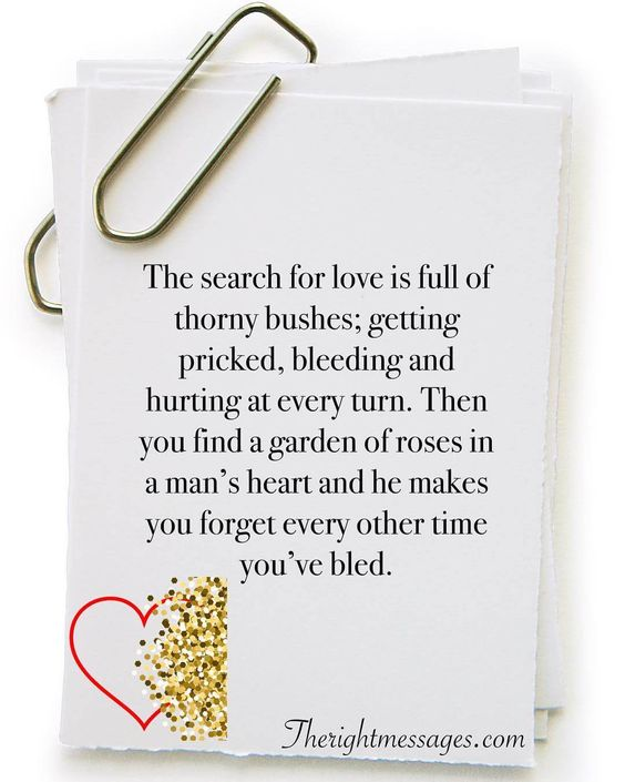 The search for love is full