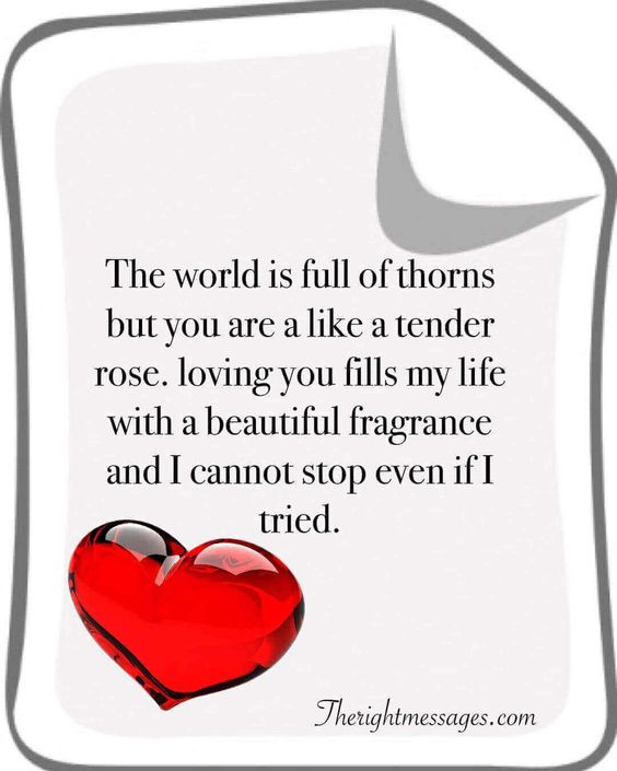 The world is full of thorns love quote