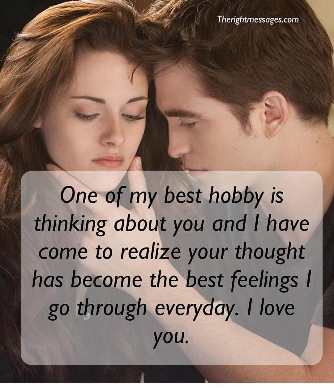 One of my best hobby is thinking about you