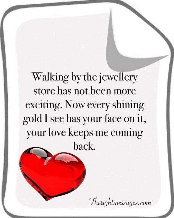 Walking by the jewellery store love quote