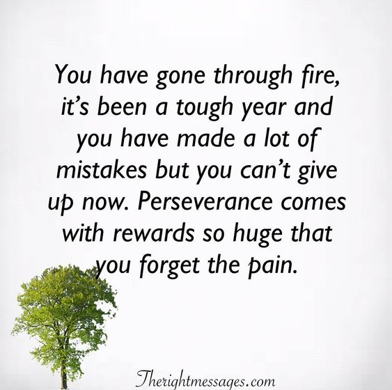 You have gone through fire Encouraging Quote