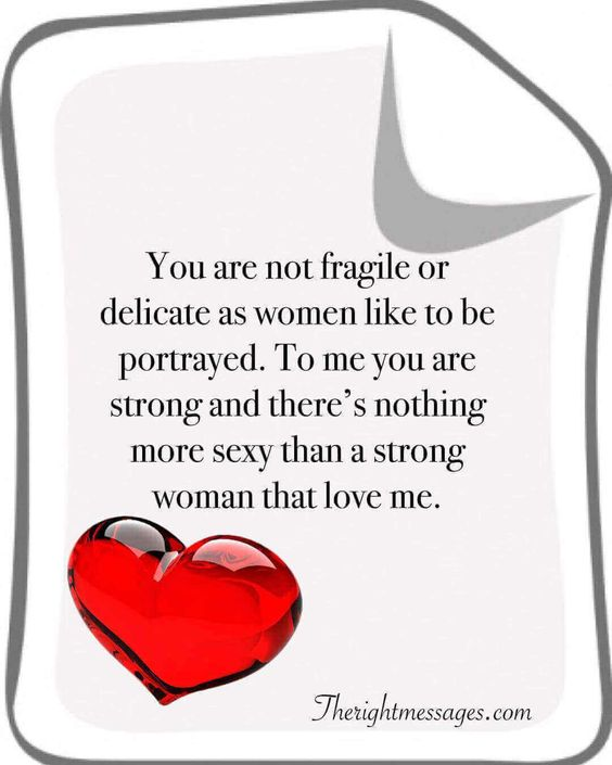 You are not fragile or delicate