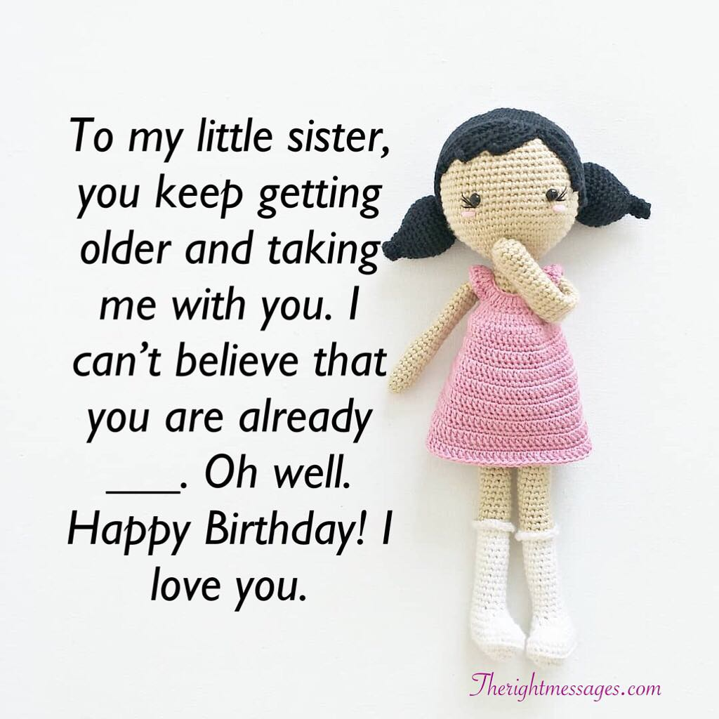 Admirable Short And Long Birthday Wishes For Sister The Right Messages Funny Birthday Cards Online Inifofree Goldxyz