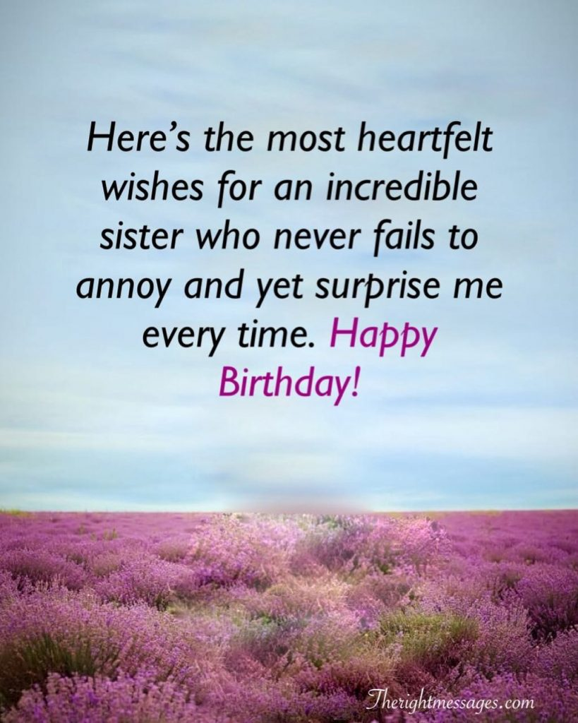 405a48613 Short And Long Birthday Messages, Wishes & Quotes For Sister | The ...
