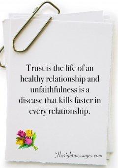 Trust in relationship