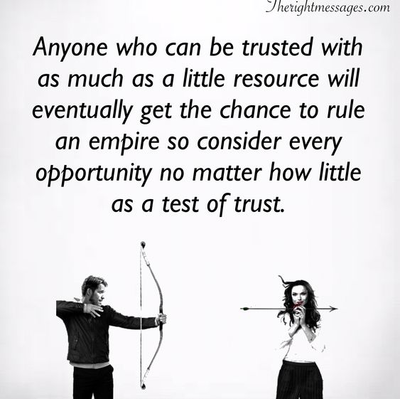 Anyone who can be trusted