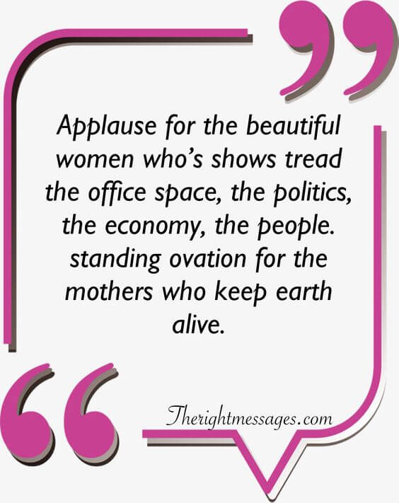 Applause for the beautiful women quote