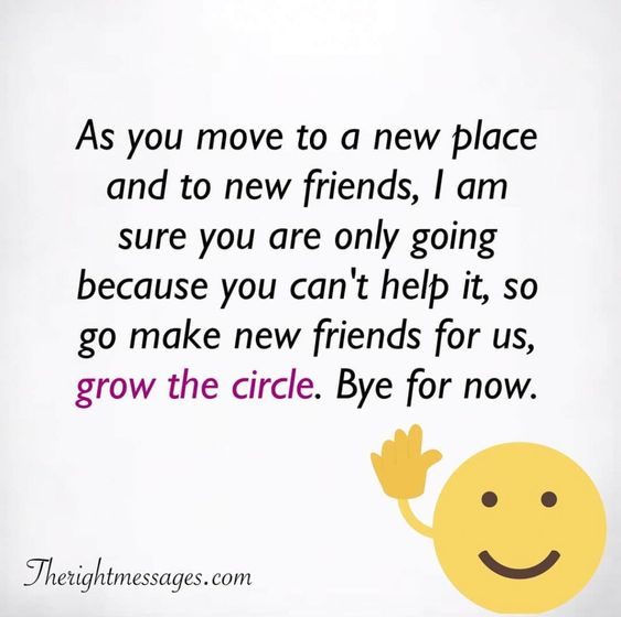As you move to a new place