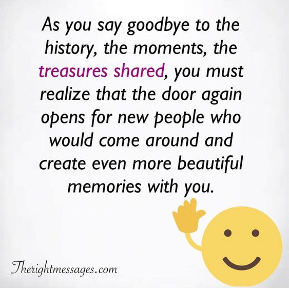 As you say goodbye to the history