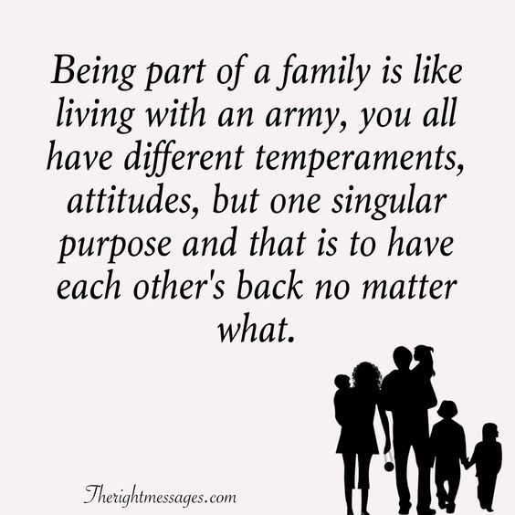 Being part of a family