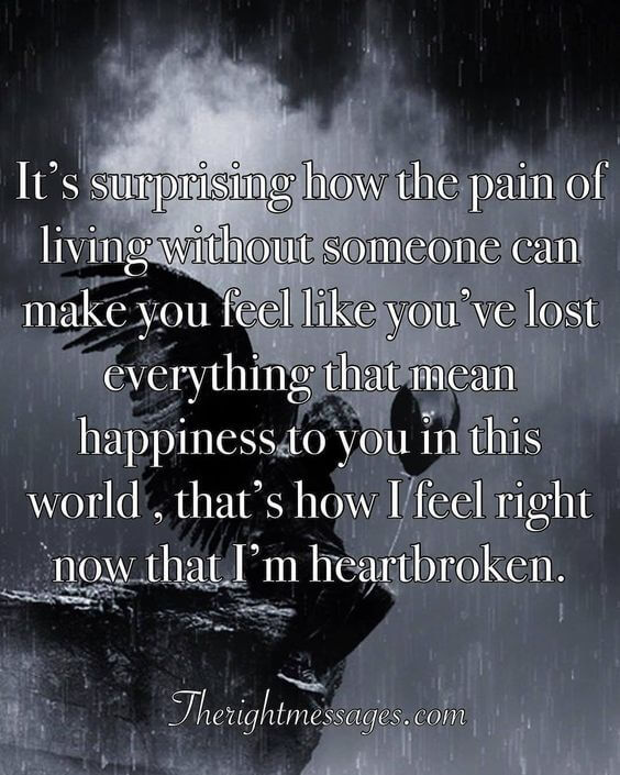 33c0d30a2466fe 55 Powerful Broken Heart Quotes & Messages | The Right Messages