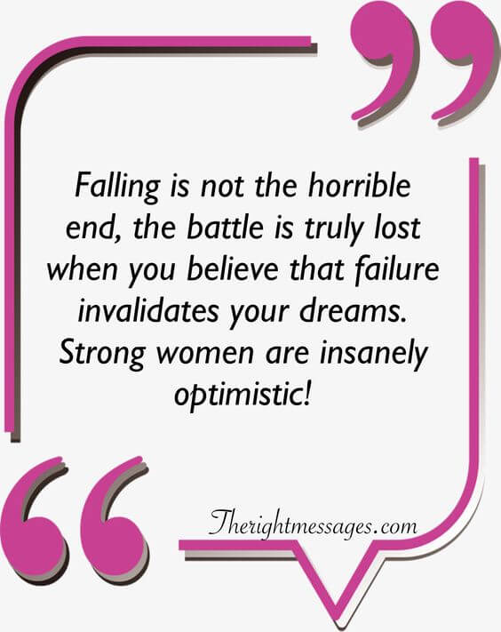 Falling is not the horrible end strong women quote