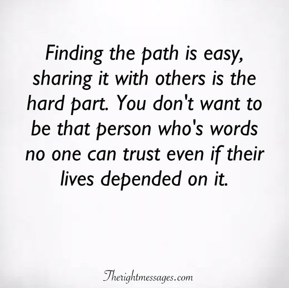 Finding the path is easy