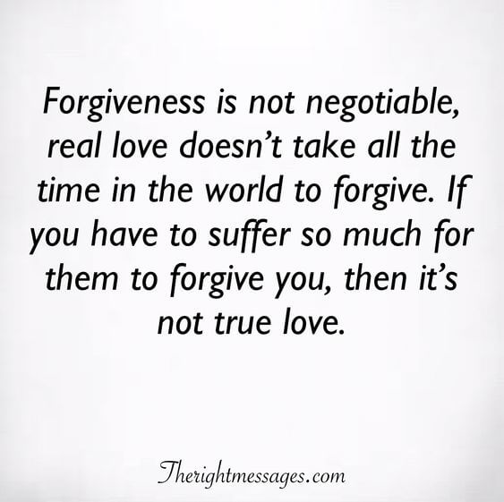 Forgiveness is not negotiable