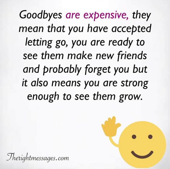 Goodbyes are expensive
