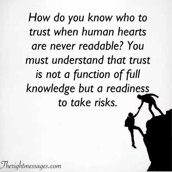 How do you know who to trust
