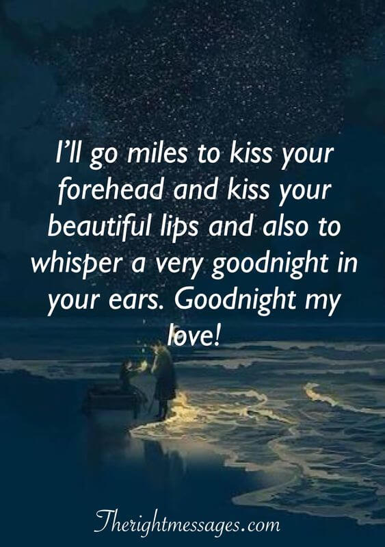 kiss your forehead good night