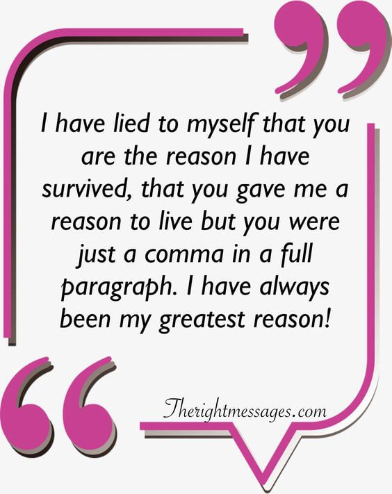 I have lied to myself strong women quote