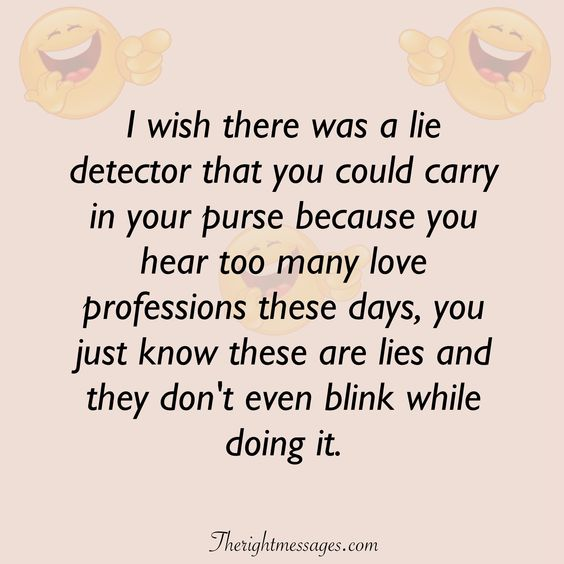 lie detector funny love quote