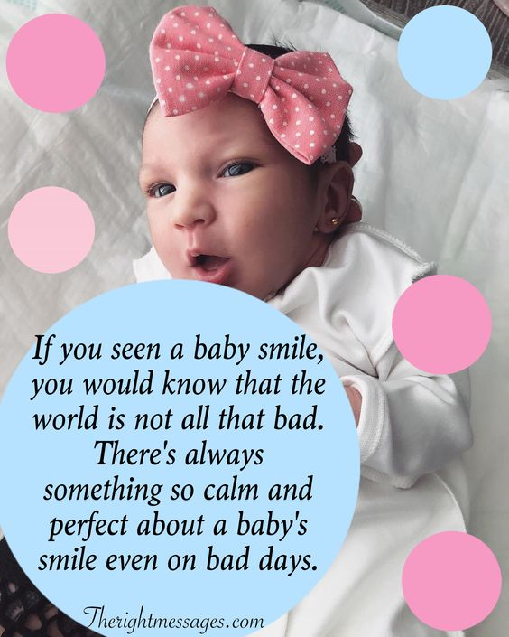 If you seen a baby smile