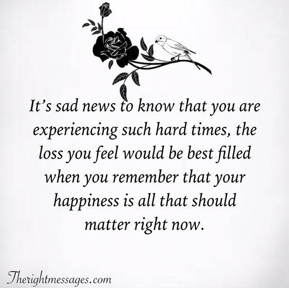 It's sad news Condolence Quote