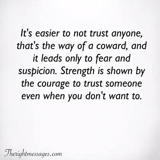 It's easier to not trust anyone