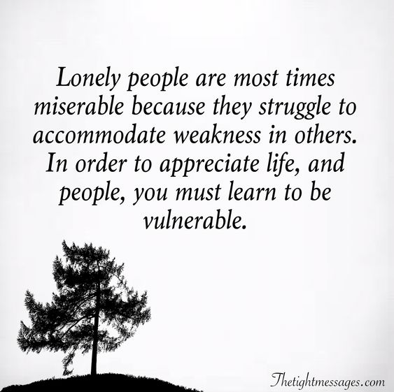 Lonely people quote