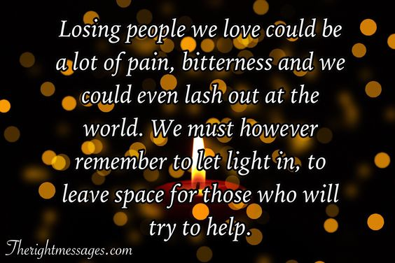 Losing people we love could be a lot of pain