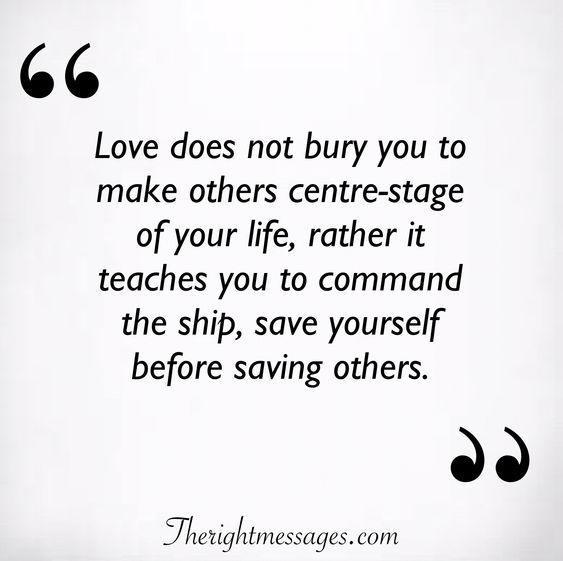 Love does not bury you