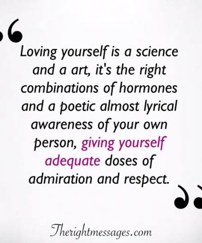 Loving yourself is a science