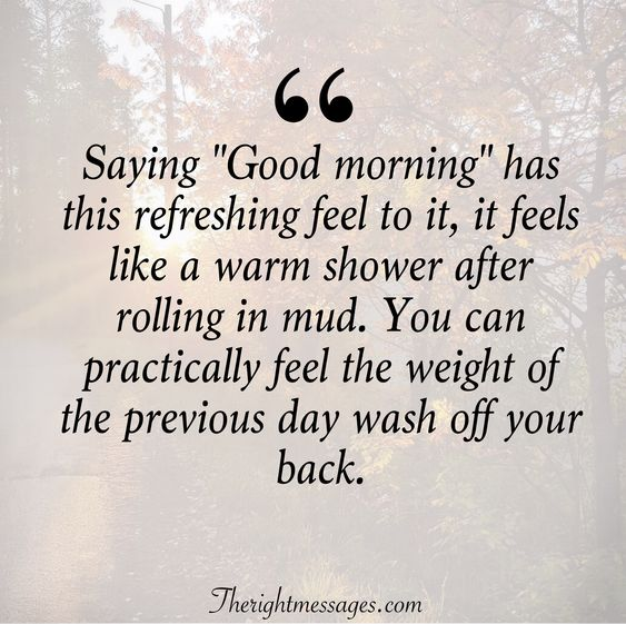 "Saying ""Good morning"" Quote"
