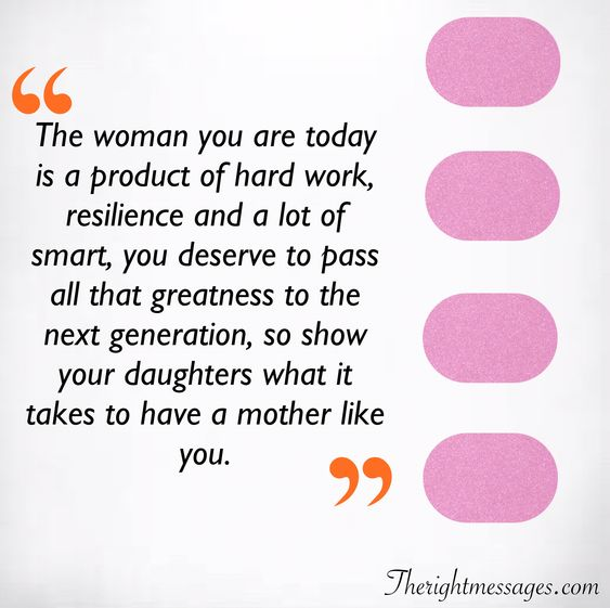 The woman you are today quote