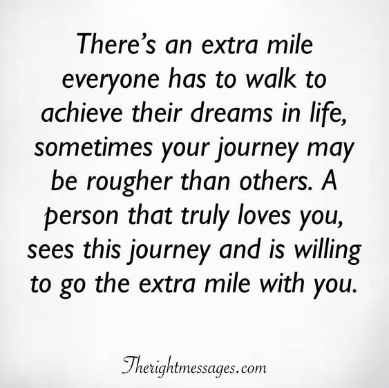 There's an extra mile everyone
