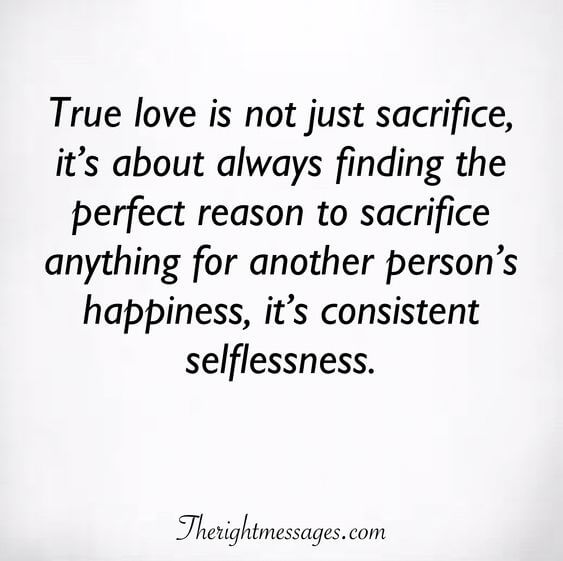 True love is not just sacrifice