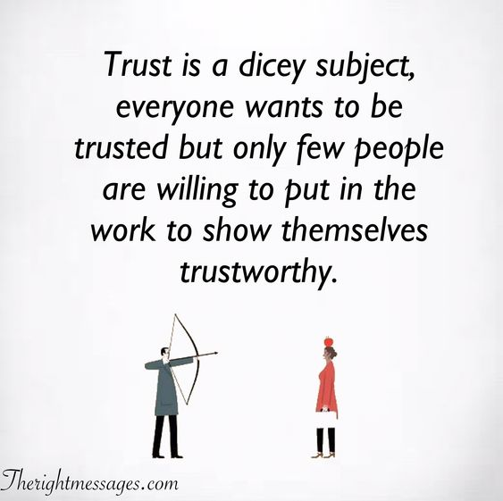 Trust is a dicey subject