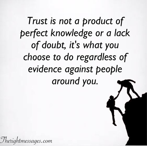 Trust is not a product