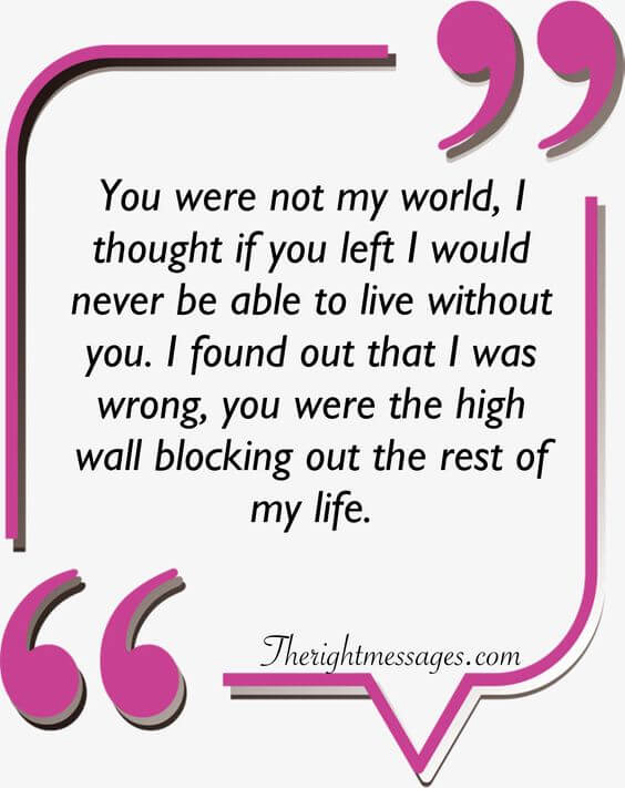 You were not my world strong women quote