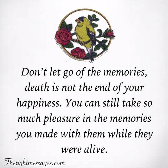death is not the end of your happiness