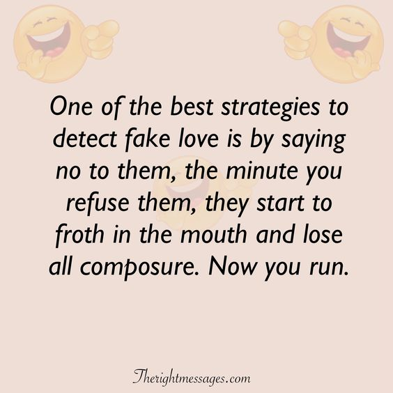 detect fake love funny love quote