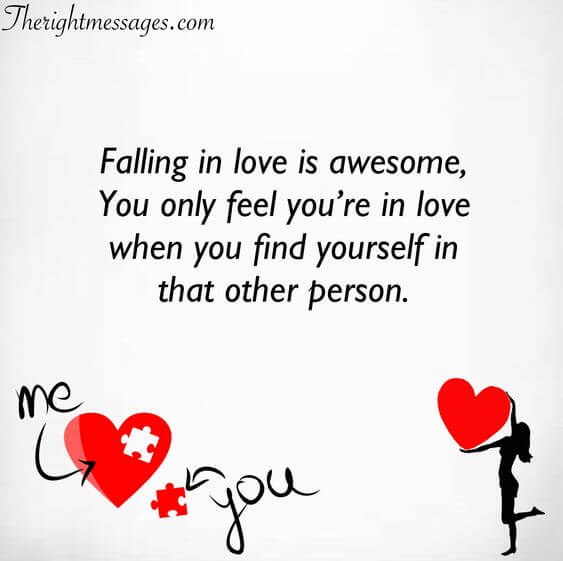 falling in love is awesome