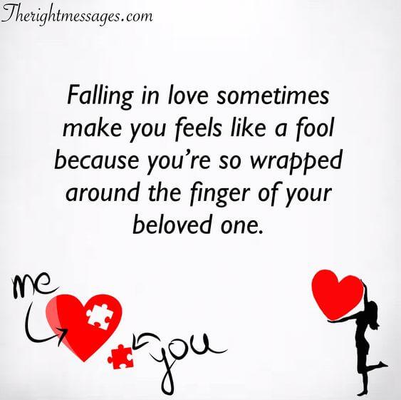 falling in love sometimes make you feels