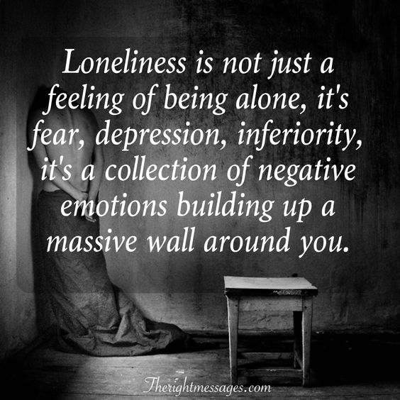 feeling of being alone quote